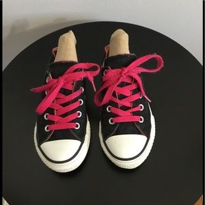 Converse All Star Black/Pink Sneakers